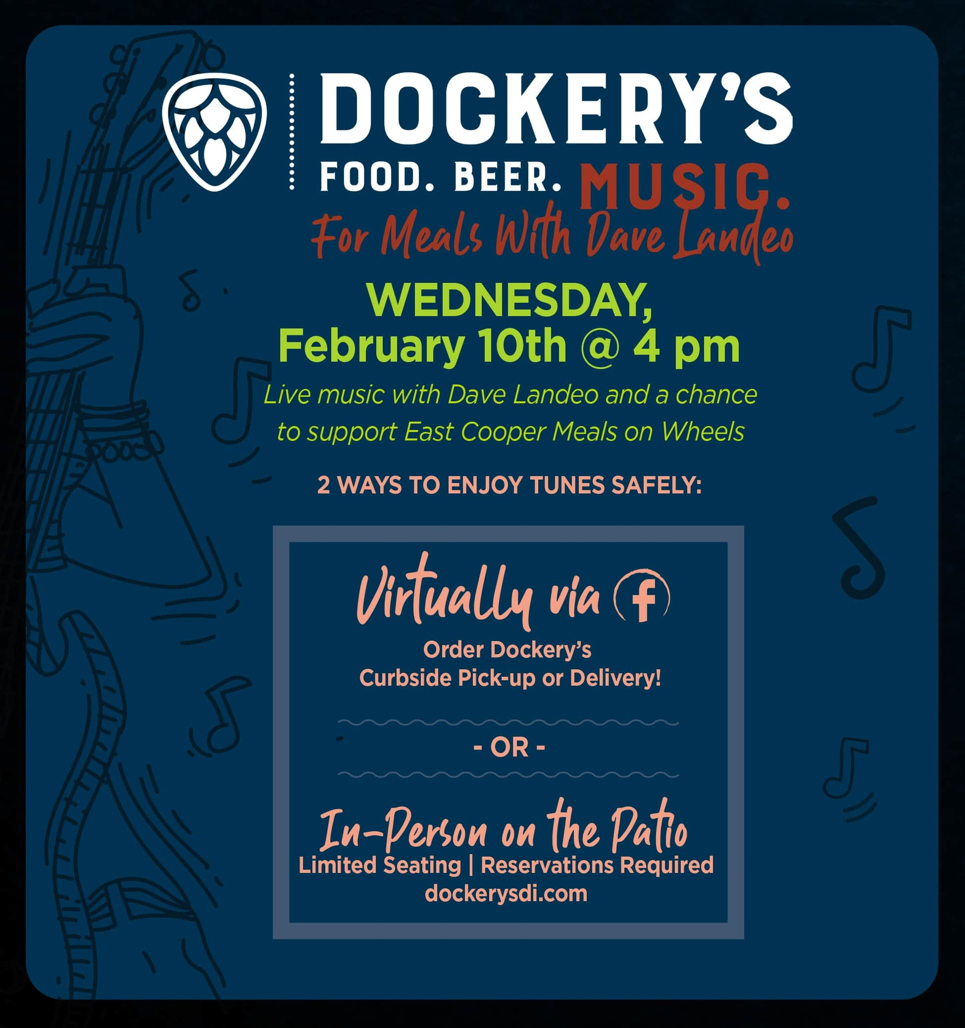 Fundraiser @ Dockery's, Band gig at The Windjammer, Valentine's Day @ Red's Icehouse!